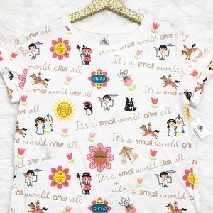 Disney Parks Its A Small World Print T-Shirt New